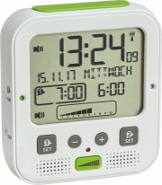 tfa 60253802 boom high performance radio alarm clock with vibration alarm photo