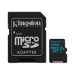 kingston sdcg2 64gb canvas go 64gb micro sdxc class 10 uhs i u3 v30 sd adapter photo
