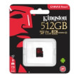 kingston sdcr 512gbsp canvas react 512gb micro sdxc class 10 u3 uhs i v30 a1 photo