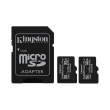kingston sdcs2 32gb 2p1a canvas select plus 32gb micro sdhc 100r a1 c10 two pack sd adapter photo