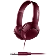 philips shl3070rd 00 bass on ear flat folding headphones red photo