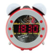 soundmaster ur140ro fm pll clock radio with projection and dimming night light red photo