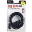natec nka 0420 hdmi cable m to dvi dm 3m gold photo
