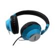 maxell retro dj colour headphones blue photo
