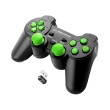 esperanza egg108g gladiator vibration gamepad wireless for pc ps3 black green photo