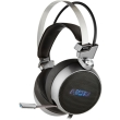 nod g hds 003 gaming headset with retractable microphone metallic colour with blue led photo