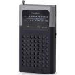nedis rdfm1100gy pocket size fm radio 15w black grey photo
