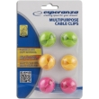 esperanza eba101m multipurpose cable clips mixed colors photo