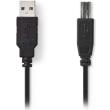nedis ccgt60100bk20 usb 20 cable a male usb b male 2m black photo