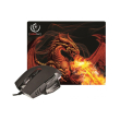 rebeltec mouse mouse pad red dragon photo