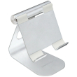 terratec 219728 itab m silver aluminum stand for smartphone and tablets photo