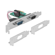 delock 89918 pci express card to 2 x serial rs 232 photo