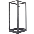 intellinet 714242 19 4 post open frame rack 26u flatpacked black photo