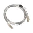lanberg cable usb 20 am bm ferrite transparent 3m photo