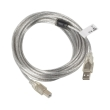 lanberg cable usb 20 am bm ferrite transparent 5m photo