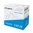 lanberg ftp stranded gray cable cca cat 5e 305m photo