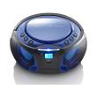 lenco scd 550 portable fm radio with cd mp3 usb blue photo