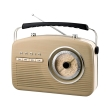 camry cr1130 retro radio beige photo