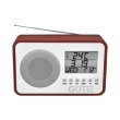 gotie gra 100m fm radio with digital tuning wooden red photo
