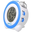 gotie gbe 200n digital clock with mechanical bell alarms blue photo