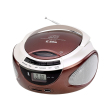 eltra radio cd 98 usb brown photo