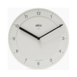 braun bnc006 classic wall clock white photo