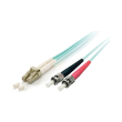 equip 255219 lc st fiber optic patch cable om3 05m photo