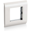 equip 125461 french face plate with window 45x45mm pure white photo