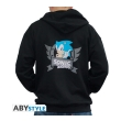 sonic hoodie opening logo man black l photo