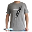 star wars t shirt x wing resistance man ss sport grey l photo