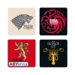 game of thrones set 4 coasters houses photo