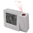 oregon scientific rm512p projection clock with indoor temperature grey white photo