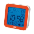 trevi me3105 mini weather station clock radio controlled orange photo