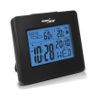greenblue gb144 weather station clock moon calendar black photo