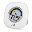 life wes 103 digital indoor thermometer and hygrometer with clock photo