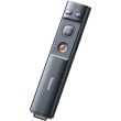baseus orange dot wireless presenter grey photo