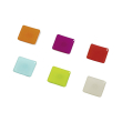 hama 57607 square magnets 6 pieces white green blue orange pink red photo
