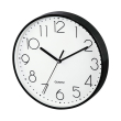hama 186343 pg 220 wall clock low noise black photo