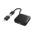 hama 200116 usb hub 4 ports usb 32 gen 1 5 gbit s incl usb c adapter black photo