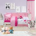 set koyberli maxilarothiki loytrino dream line embroidery das home 6464 roz animals 110x150cm extra photo 2