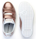 papoytsi lacoste carnaby evo silver synthetic trainers 36spi0002 roz metallize eu 21 extra photo 1