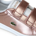 papoytsi lacoste carnaby evo silver synthetic trainers 36spi0002 roz metallize eu 22 extra photo 4