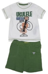 set t shirt sortsaki guess kids i82g22 i3z00 twht leyko prasino 88ek 12 18minon photo