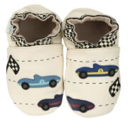 pantoflakia robeez retro racing 607730 krem photo