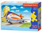 pazl castorland a plane on the runway 30tmx photo