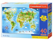 pazl castorland world map 40tmx photo
