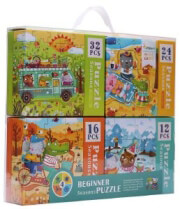 pazl mideer 4 in 1 puzzle seasons 84 tmx md3016 photo