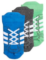 kaltses adidas performance ankle socks 3p mple gkri prasines photo