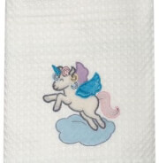 koyberta pike dream line embroidery das home 6463 krem roz unicorn 110x150cm photo