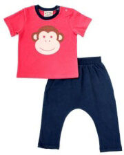 set keen organic wwf baby set monkey kokkino mple photo